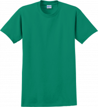 gildan 200 kelly green t-shirt